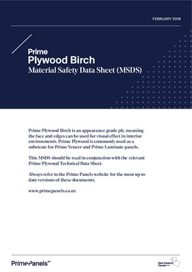 Prime Plywood Birch MSDS Feb 18