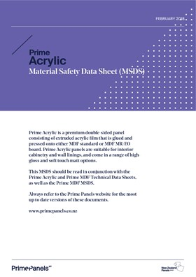 Prime Acrylic MSDS
